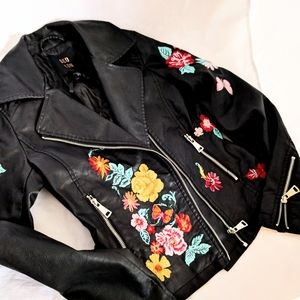 QED London faux leather jacket